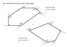 Polygons Exterior And Interior Angles by Irregular Polygons Calculate Interior And Exterior