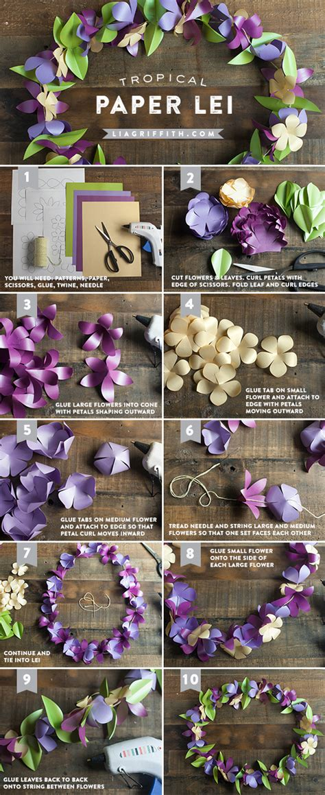 How To Make Paper Hawaiian Flowers - diy tropical pictures photos and images for