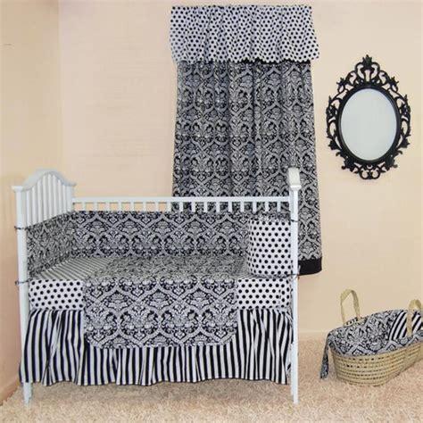 Black And White Damask Crib Bedding Sleeping Partners Damask Black And White Crib Bedding Collection Free Shipping
