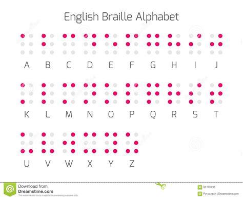 lettere braille lettres d alphabet de braille anglais illustration de