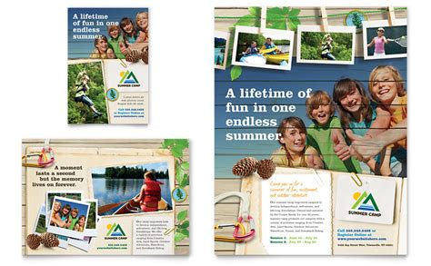 kids summer camp flyer ad template word publisher