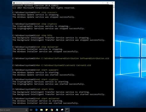 resetting windows update 10 fix unable to upgrade windows 10 fall creators update