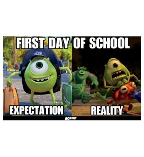 First Day Of College Meme - first day of school first day in school meme