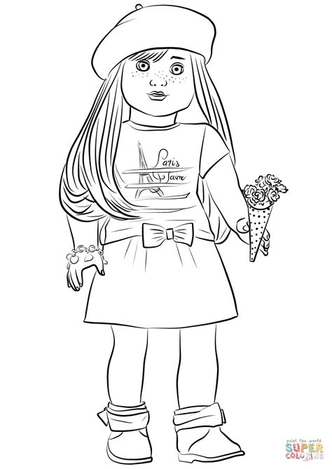 american doll coloring page american girl grace thomas coloring page free printable