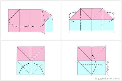 Origami Envelope Diagram - make an easy origami envelope wallet