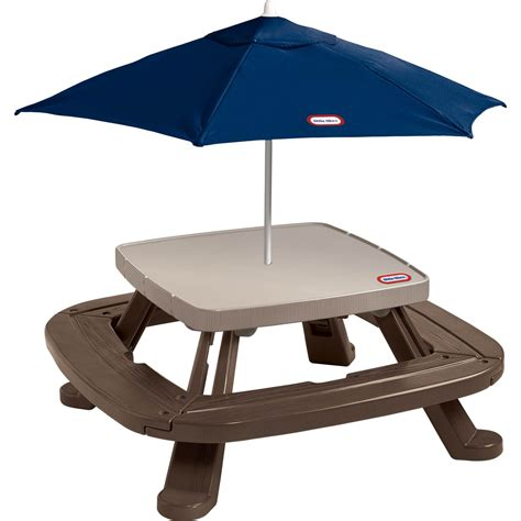 Tikes Fold N Store Table by Tikes Fold N Store Picnic Table With Market Umbrella Yard Baby Toys Shop