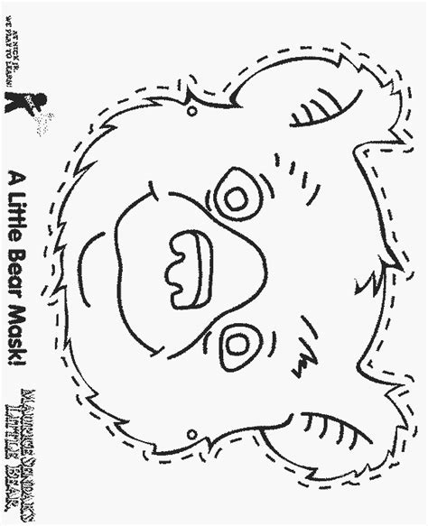 lb mask free printable little bear coloring pages
