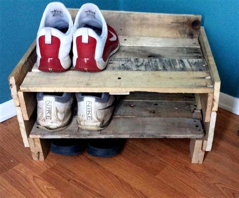 Handmade Shoe Rack - 45 easiest diy projects with wood pallets