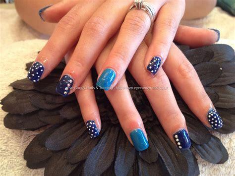 Acrylic Nail eye nails acrylic nails with blue and nail by nicola senior on 1