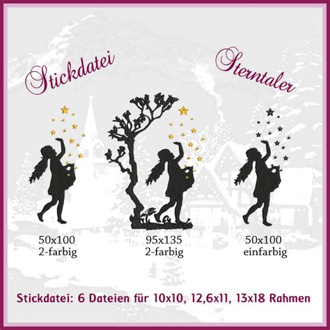 Mit Sternen Und Namen 4710 by Sterntaler Sternenm 228 Dchen Stickdatei Rock Stickdateien