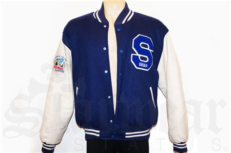 S College Letter Jackets Sega Sonic The Hedgehog Vintage Varsity Letterman Jacket As Worn By Michael Jackson Starwear
