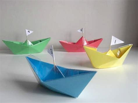 Craft Paper Boat - summer crafts for