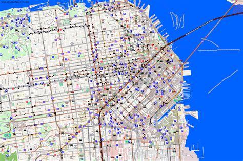 san francisco map traffic sf traffic map my
