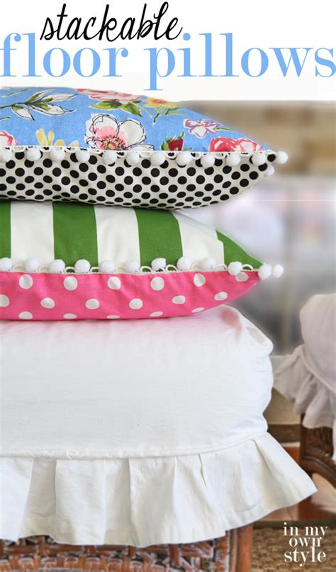 Make Your Own Floor Pillows by How To Make Stackable Floor Pillows In Own Style