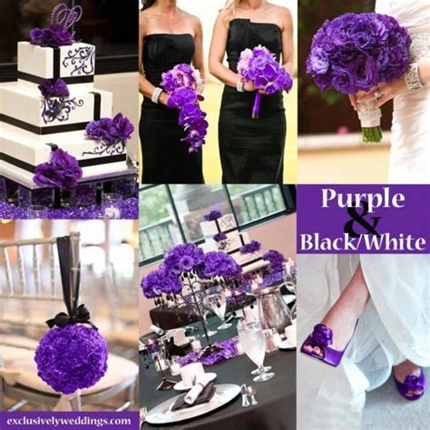 purple black white wedding theme inspiring color theme for wedding black white