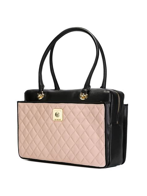 Benefit I Pink I You Bag moschino quilted shoulder bag in pink pink purple lyst
