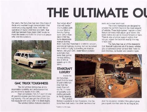1987 gmc starcraft ducks unlimited limited edition