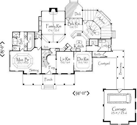 what is ots in floor plan country style house plan 3 beds 3 5 baths 3475 sq ft