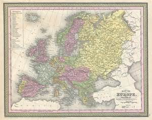 Map Of Europe 1850 by File 1850 Mitchell Map Of Europe Geographicus Europe