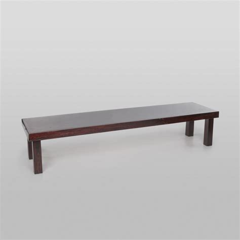 2 foot bench fruitwood bench 2 foot x 8 foot x 15 inch h rentals orange