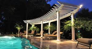 Curved Pergola Kits by Pergola Kits Which Low Maintenance Material Is Right For Me