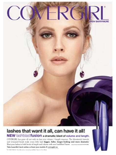 Drew Barrymore Covergirl by Drew Barrymore For Covergirl Endorsements