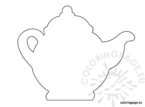 teapot template printable teapot template coloring page