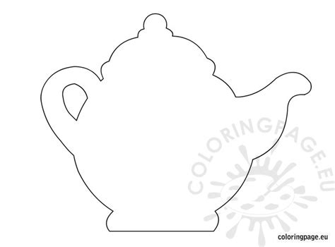 printable teapot card template teapot free coloring pages