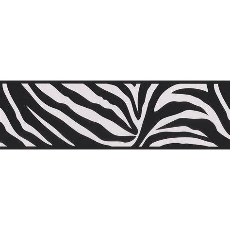 black and white zebra print wallpaper border brewster zebra crossing black wallpaper border 443b90546