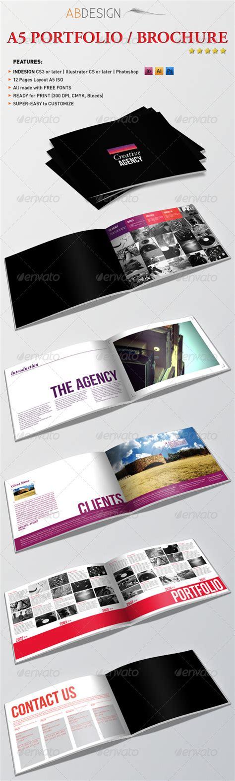 portfolio print template a5 portfolio brochure graphicriver