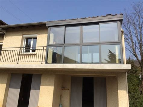 veranda su balcone veranda aluminium sur balcon v 233 randa valence c poser