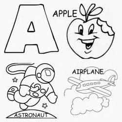 letter a coloring pages preschool and kindergarten