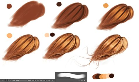 watercolor tutorial hair hair technique by ryky on deviantart