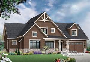 new craftsman house plans d 233 du plan de maison unifamiliale w3507 v3