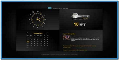 themes weather clock cadillac windows 7 theme autos post