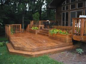Backyard Deck Ideas Ground Level Deck Patio Home