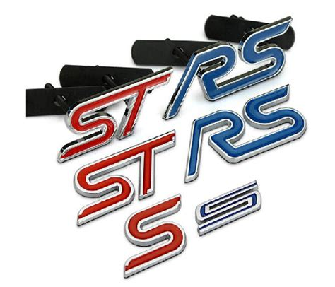 Emblem Grill Type S Chrome Bahan Metal blue chrome metal s rs st car grille styling emblem badge 3d car sticker refitting decal for