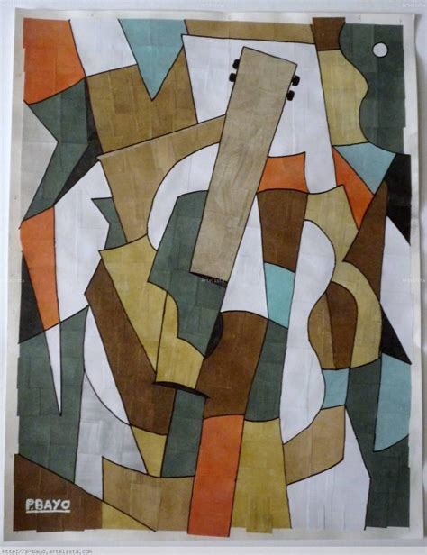 cubismo cuadros guitarra cubista pascual bayo artelista