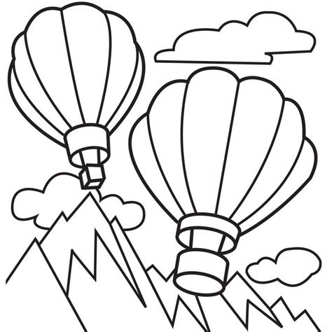 coloring pages balloons balloon template printable coloring home