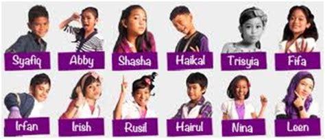 film up nama anak kecil anis asheera senarai nama peserta idola kecil