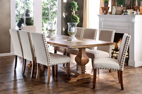 9 piece dining room table sets macapa transitional style 9 piece dining table set
