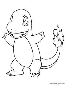 charmander coloring page charmander coloring page 01 coloring page central