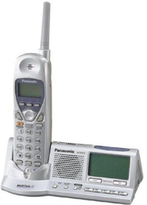 panasonic kx tga273s cordless handset with am fm alarm clock 2 4 ghz frequency hopping digital