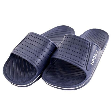 mens shower sandals mens slip on sport sandals slides rubber shower shoes