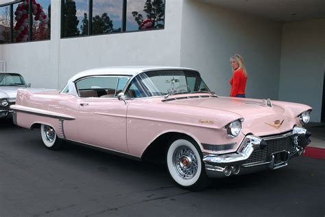 1957 Pink Cadillac 1957 Cadillac Coupe White Pink Fvr