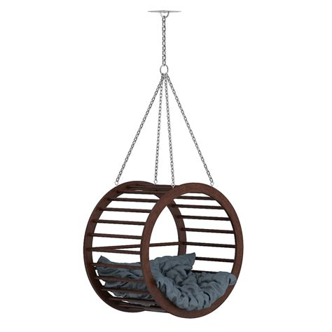 large round swing max large wooden swing