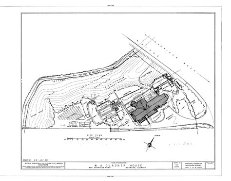 house site plan file site plan w a glasner house 850 sheridan road