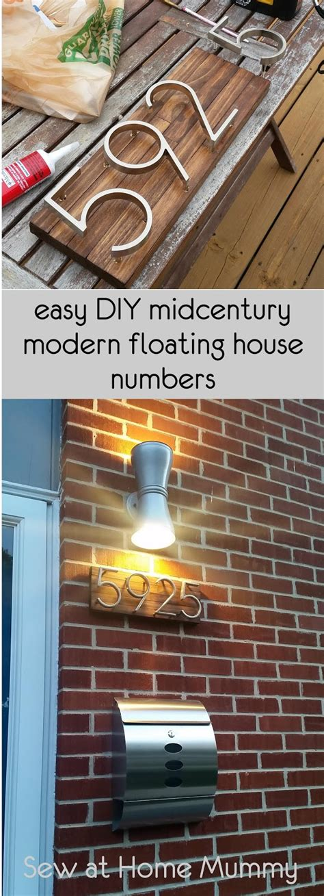 Sew At Home Mummy Mid Century Modern House Numbers