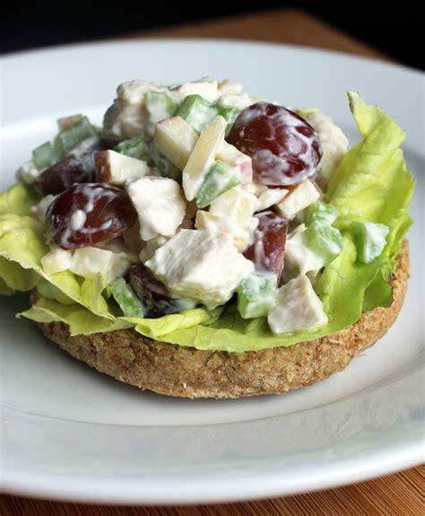 chicken salad healthy chicken salad recipe popsugar fitness