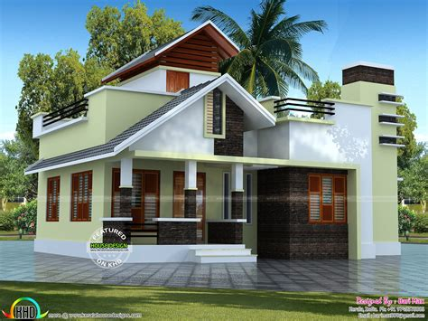 Kerala Home Design Single Floor Low Cost | low cost single floor home 1050 sq ft kerala home design